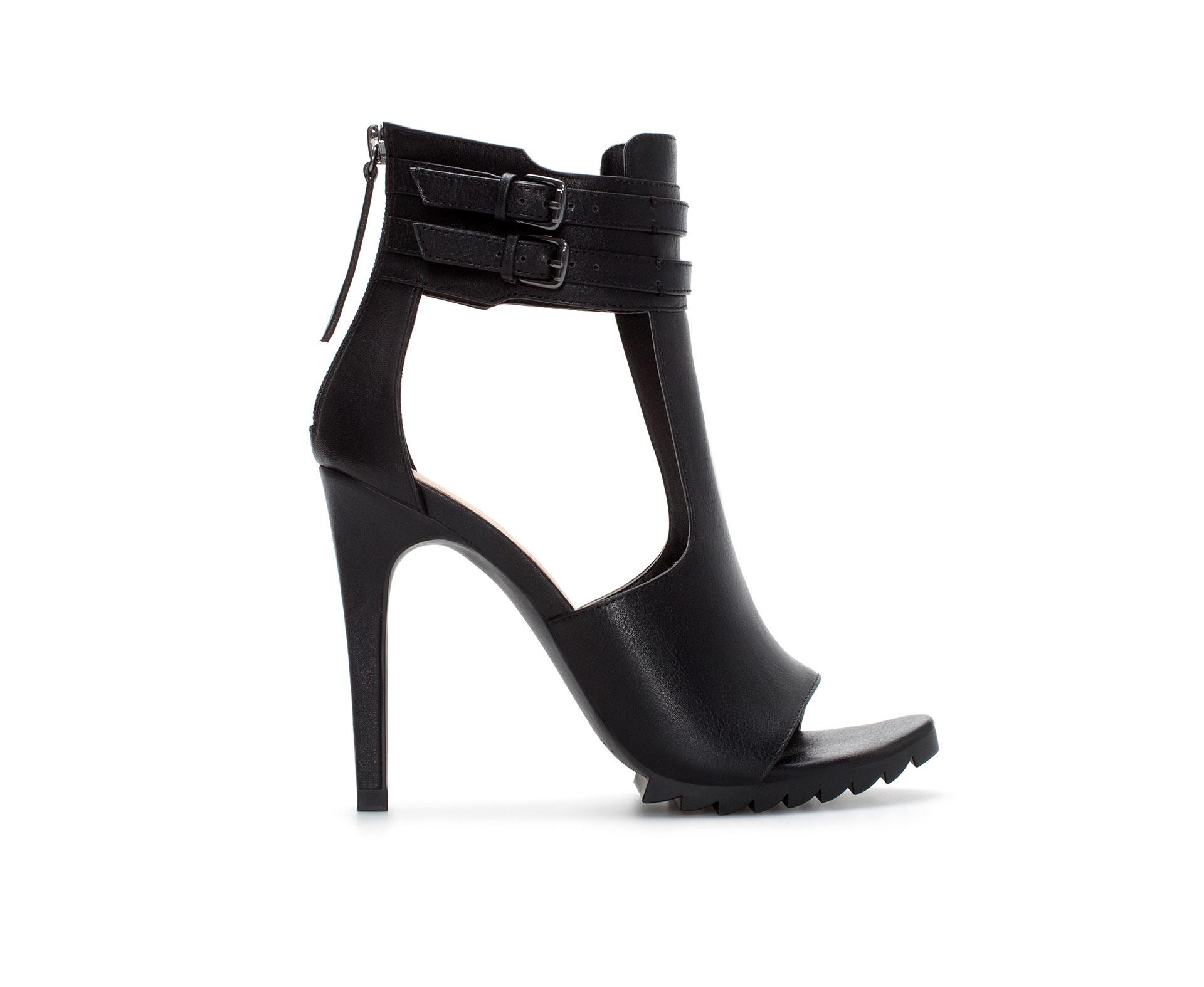 Buckle Ankle Strap Heels